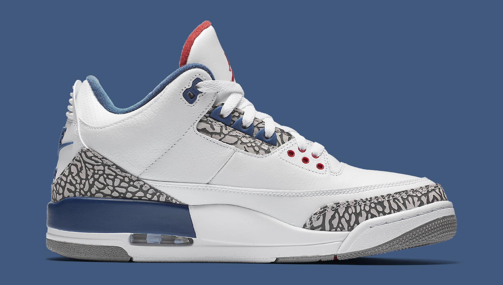 True Blue Air Jordan 3 854262-106 Medial