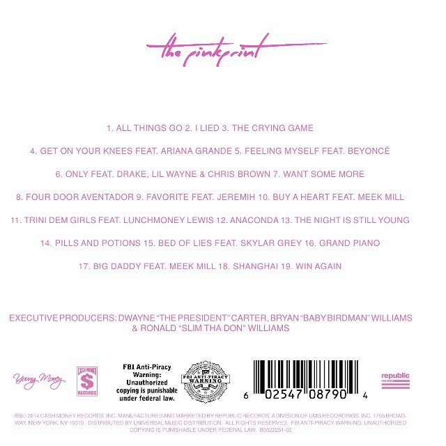 Here's the Tracklist for Nicki Minaj's