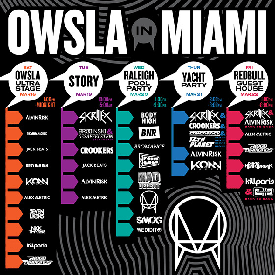 owsla in miami 2013 OWSLA Announces Their Miami Music Week Events
