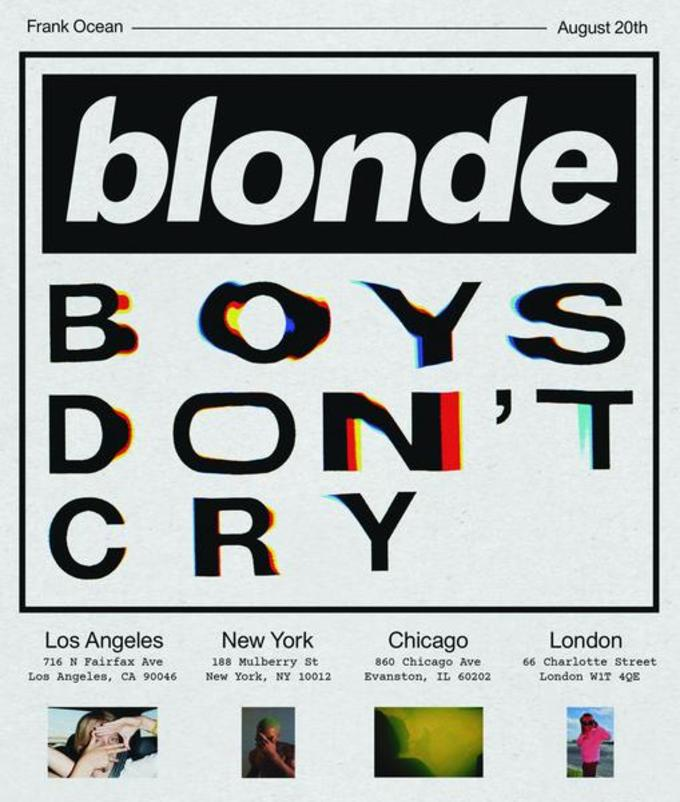 Frank Ocean Boys Don't Cry Flyer