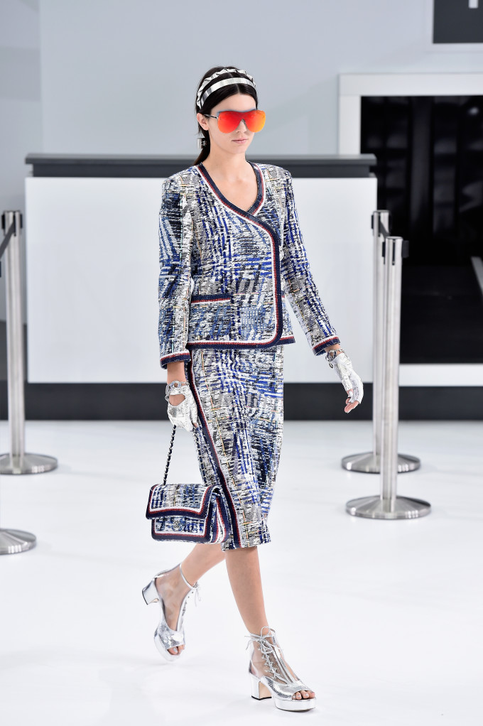 Kendall Jenner walks in the Spring 2016 Chanel show in Paris.