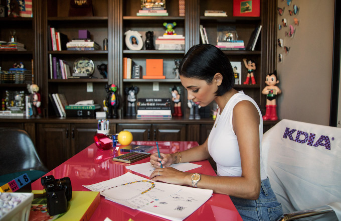 Kristen Noel Crawley at her KDIA Jewelry Design Studio in Arcadia, Calif. August 2016.