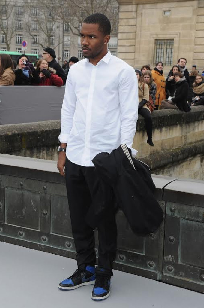 Frank Ocean wearing Air Jordan 1