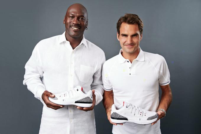 Michael Jordan and Roger Federer