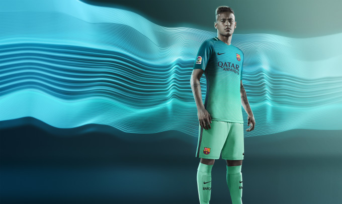 2d3d5179f Barca s new kit is made from 16 recycled plastic bottles. Neymar – Barcelona  third kit