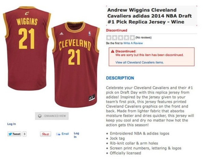 09dbfb3703d According to The Big Lead, the only Wiggins item currently available at the NBA  Store is a t-shirt. Meanwhile, jerseys are available for a number of  players ...