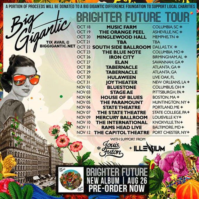 This is an image for Big Gigantic's tour schedule.