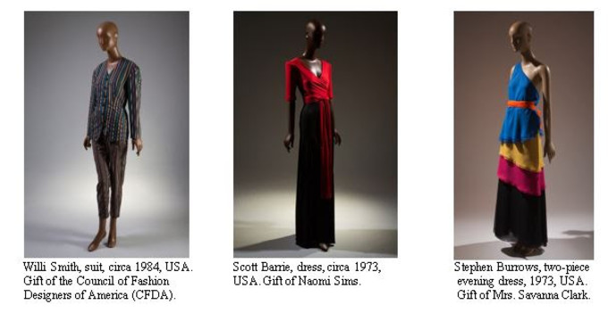The Museum at FIT Presents Black Fashion Designers exhibit.