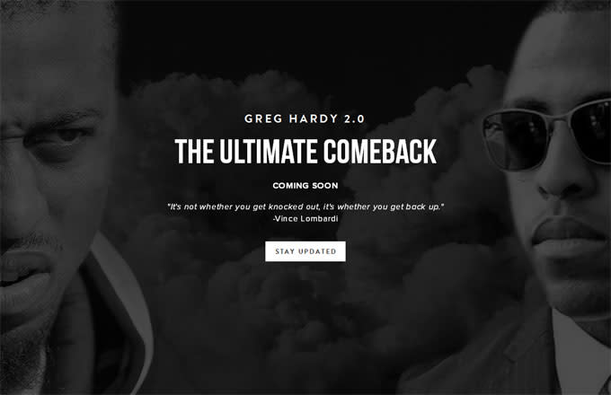 Greg Hardy talks about his comeback on his website.