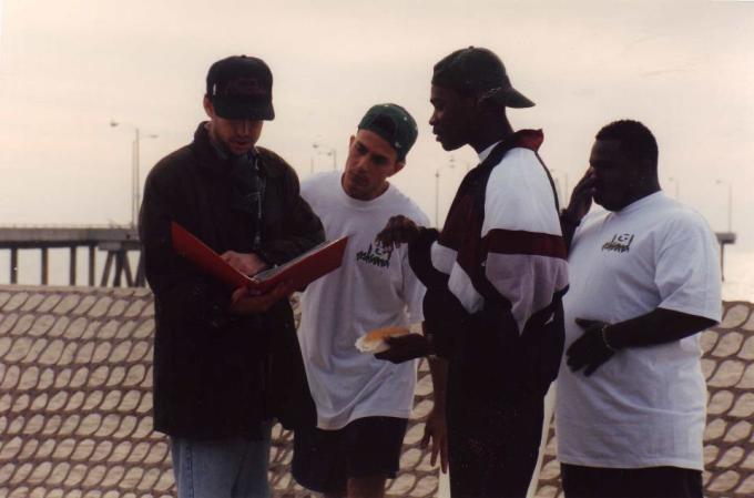Doug, Brian, Jermaine and Gregg on Phat Beach set