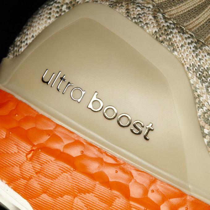 Adidas Ultra Boost Uncaged Tan/Solar Red Heel S82064