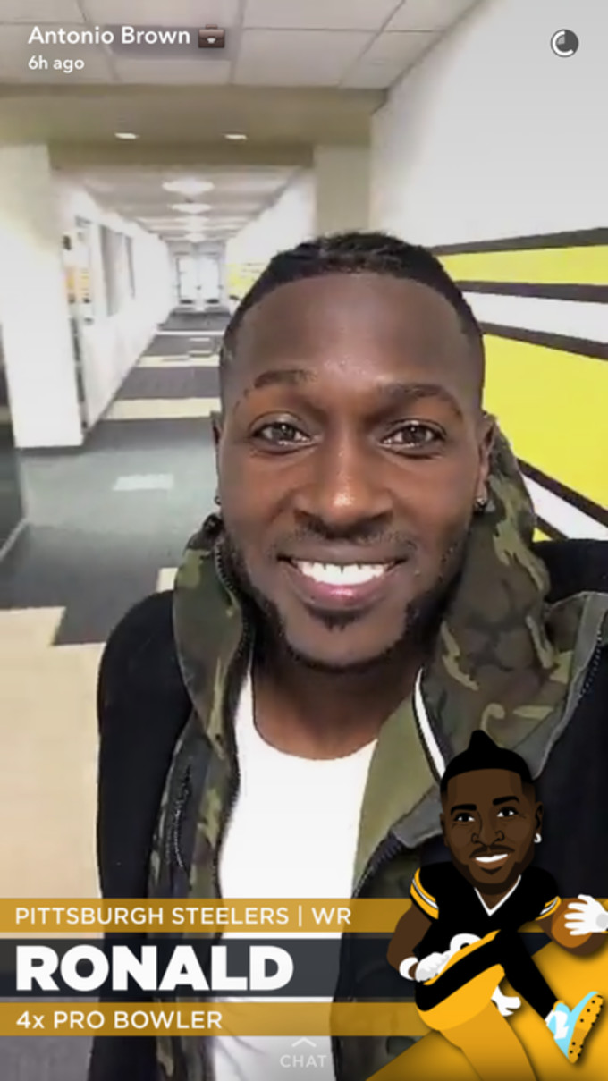 Antonio Brown on Snapchat