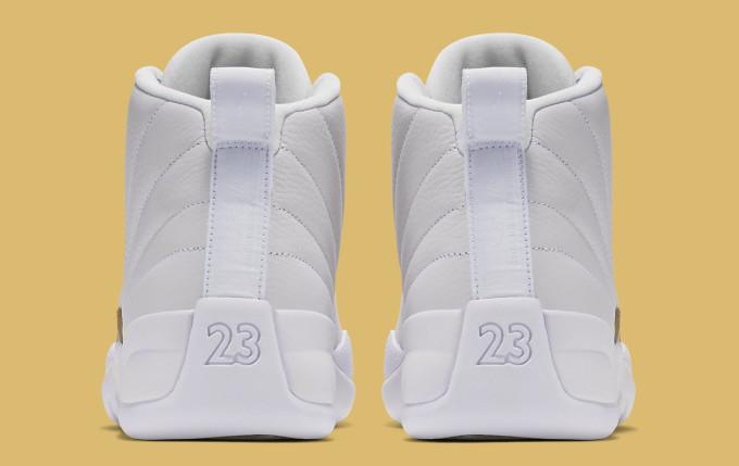 OVO Air Jordan 12 White Heel