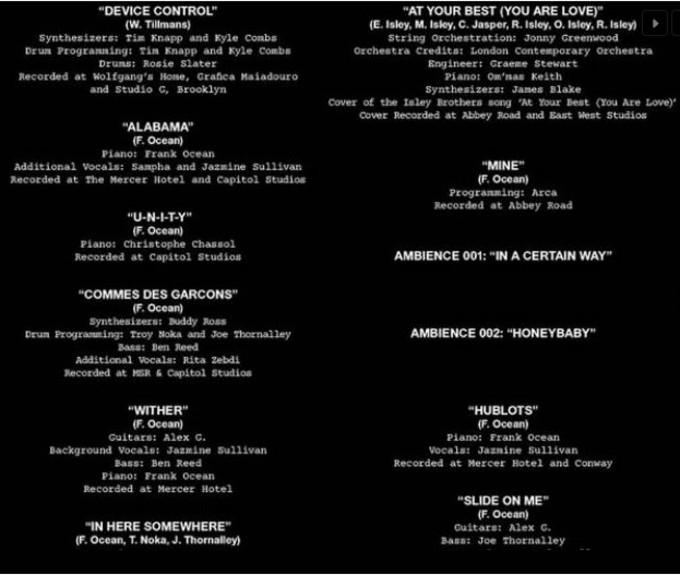 Endless credits page 1