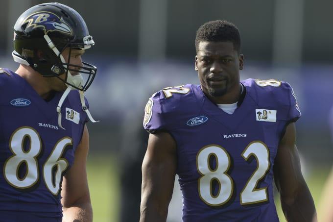 Benjamin Watson Baltimore Ravens Training Camp 2016