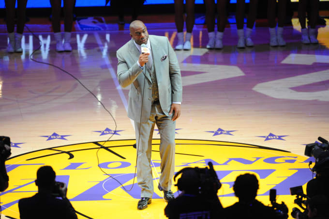 Magic Johnson Lakers Staples Center 2016