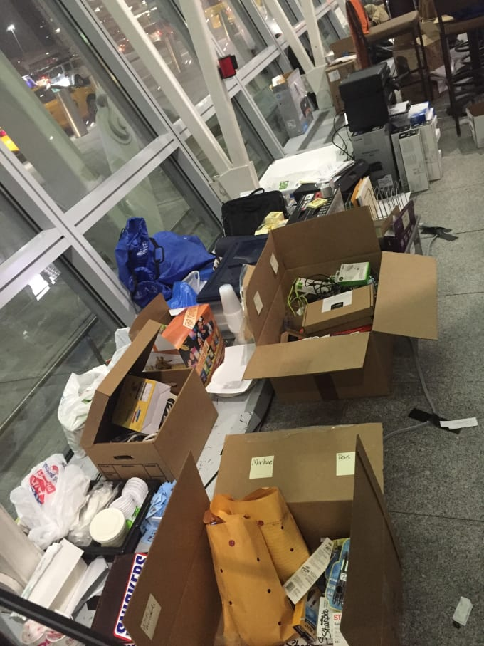 boxes for volunteers at jfk