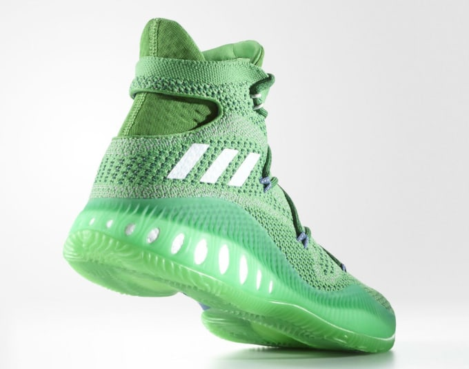 Adidas Crazy Explosive Andrew Wiggins Green Lateral BW0626