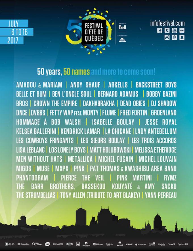 Festival D'ete Quebec City 2017