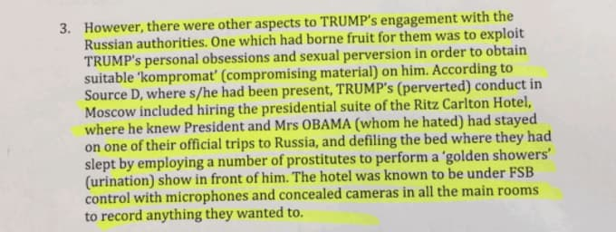 Russian Memos on Donald Trump