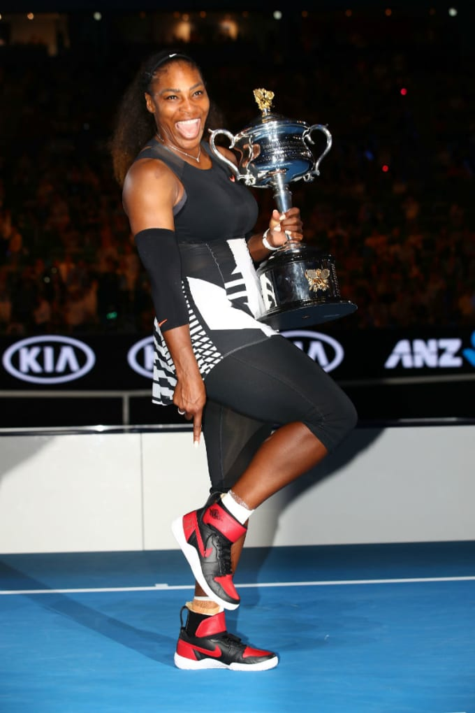 Serena Williams air Jordan 1 x Nike Flare Hybrid 23 Grand Slam Custom