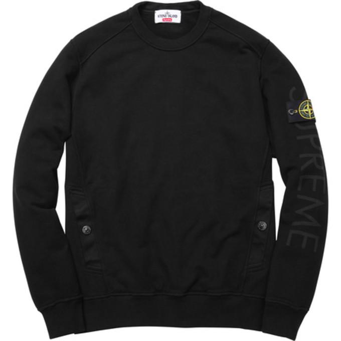3767f2c94 Drake Wore a Supreme x Stone Island Crewneck Sweater | Complex
