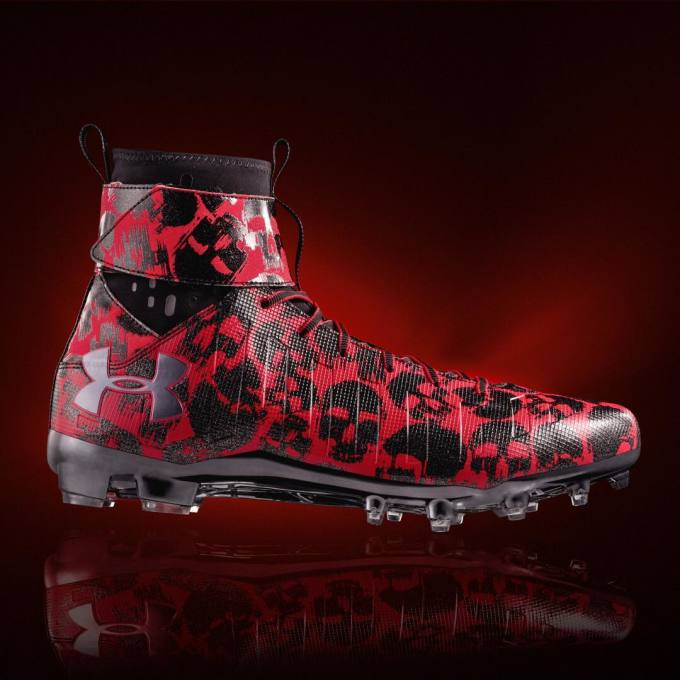 Cam Newton Wears Under Armour Halloween Cleats Official