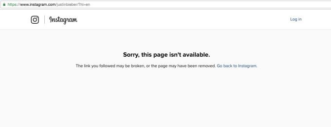 Justin Bieber deleted IG account