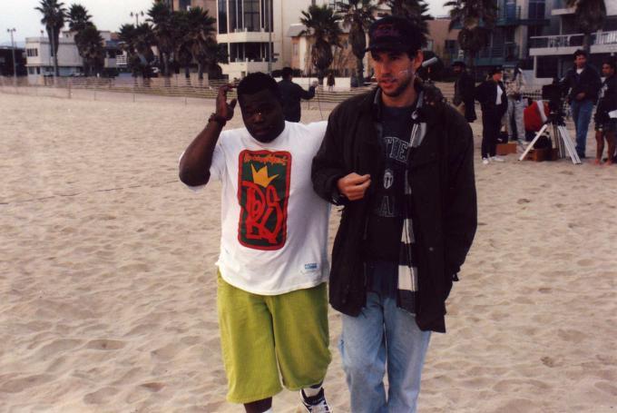 Jermaine and Doug on Phat Beach set