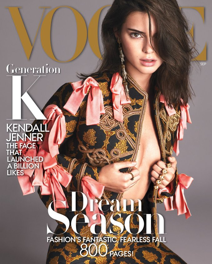 Kendall Jenner covers the September 2016 edition of Vogue Magazine
