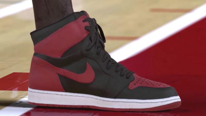NBA 2K17 Sneakers Banned Jordan 1