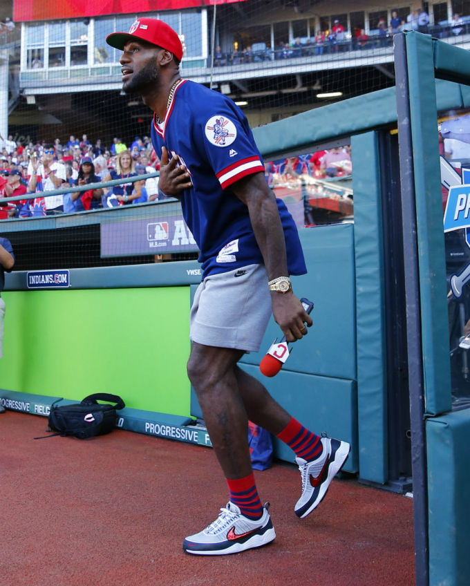 6667c50ff8f LeBron James Hypes Up Baseball Fans in Underrated Nike Retro