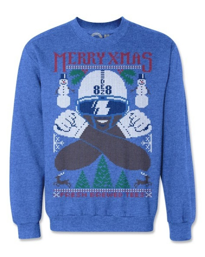 you can shop all the ugly nfl christmas sweaters at fresh brewed tees site now