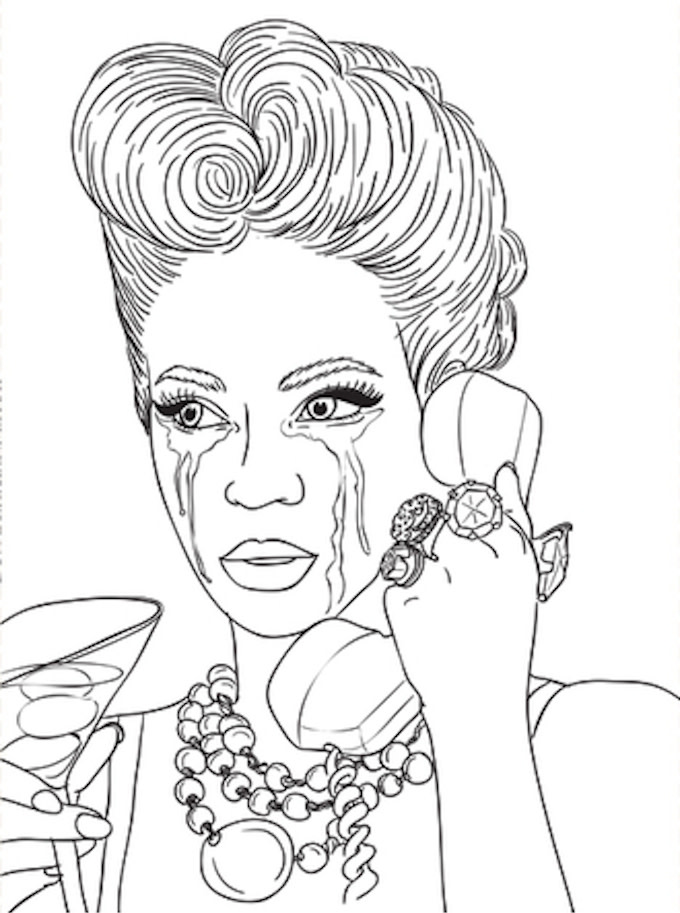 Black Queens Coloring Book quotEvolution of Beyoncequot Coloring Book Is the Perfect Way to