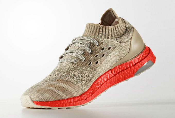 Adidas Ultra Boost Uncaged Tan/Solar Red Medial S82064