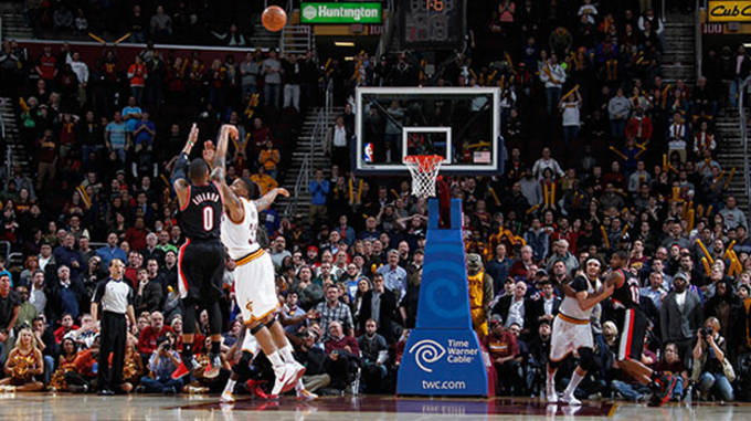 Lillard Cavs Game winner