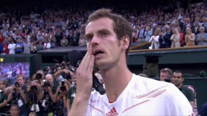 murray crying wimbledon