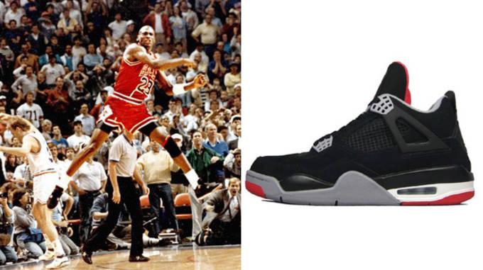 Michael Jordan in the Air Jordan IV