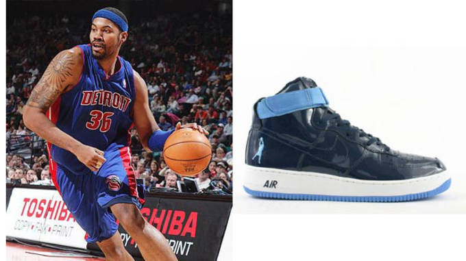 Rasheed Wallace in the Nike Air Force 1