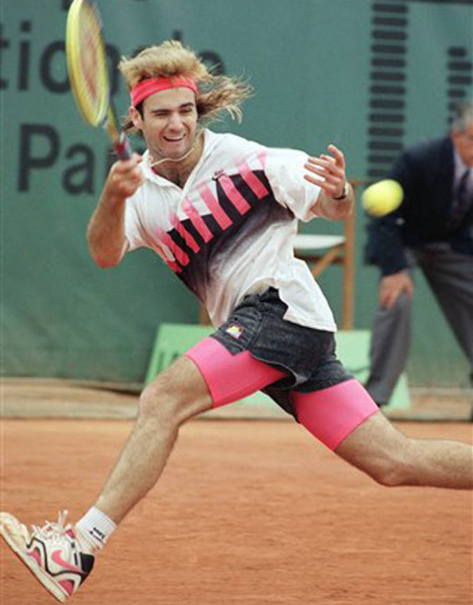 French Open outfit Andre Agassi 1990