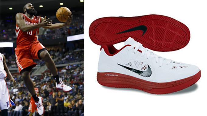 buy online 58443 72733 No. 24 - James Harden. Preferred Sneaker  Nike Lunar Hypergamer Low