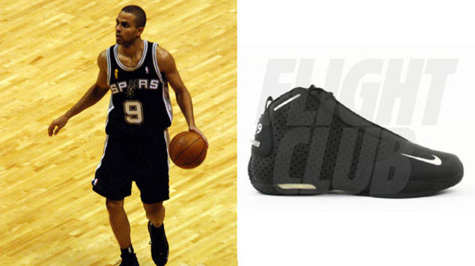 Tony Parker in the Nike Zoom Flight 2K3