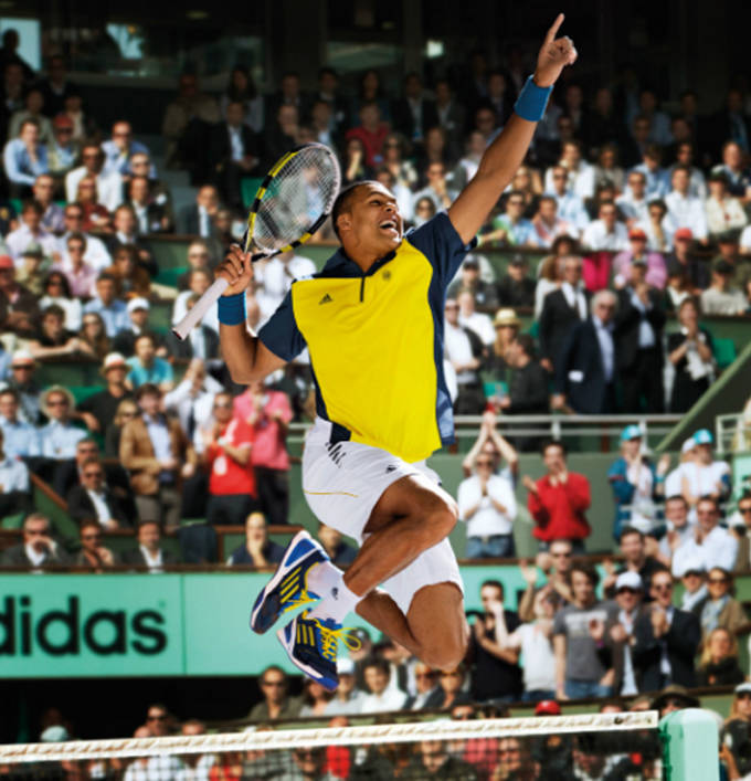 French Open outfit Jo Wilfried Tsonga 1