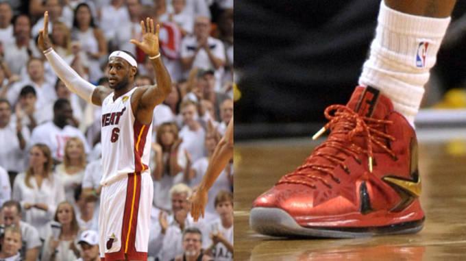 LeBron James in the Nike LeBron X PS Elite