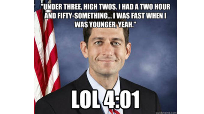 paul ryan marathon lie