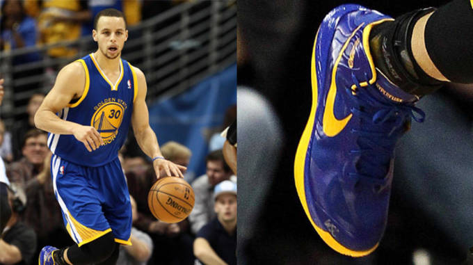 Stephen Curry in the Nike Hyperfuse PE