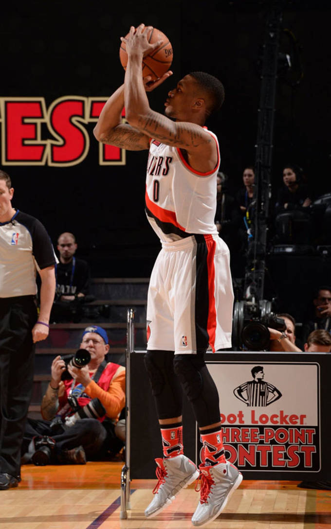 Lillard competes 2014 3 point shootout