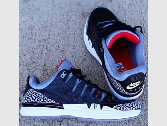 8ec388c26770ef Check out the black NikeCourt Zoom Vapor AJ3 s below and keep it with  Sneaker Report for news regarding its future release date.