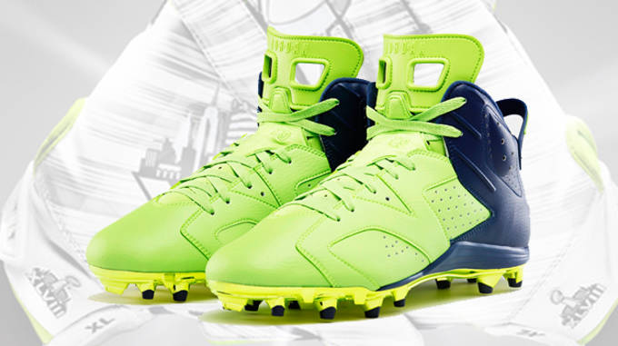 super popular 26d01 8f8ce ... Football Cleat  Air Jordan Retro 3 (III) Cleat D White Fire Red -  Cement  Super Bowl Cleats lead ...