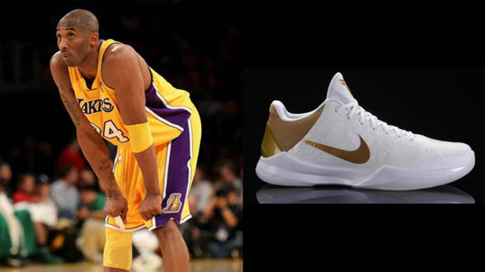 Kobe Bryant in the Nike Zoom Kobe V